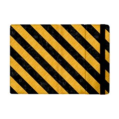 Stripes3 Black Marble & Orange Colored Pencil (r) Apple Ipad Mini Flip Case by trendistuff