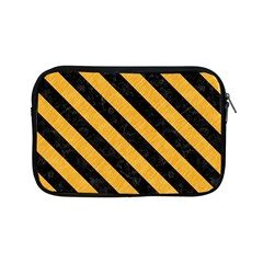 Stripes3 Black Marble & Orange Colored Pencil (r) Apple Ipad Mini Zipper Cases by trendistuff