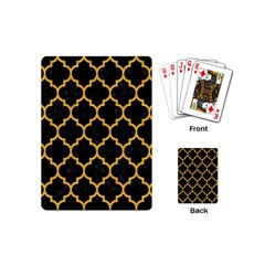 Tile1 Black Marble & Orange Colored Pencil Playing Cards (mini)  by trendistuff