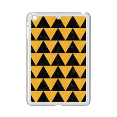 Triangle2 Black Marble & Orange Colored Pencil Ipad Mini 2 Enamel Coated Cases by trendistuff
