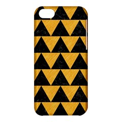 Triangle2 Black Marble & Orange Colored Pencil Apple Iphone 5c Hardshell Case by trendistuff