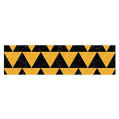 Triangle2 Black Marble & Orange Colored Pencil Satin Scarf (oblong) by trendistuff