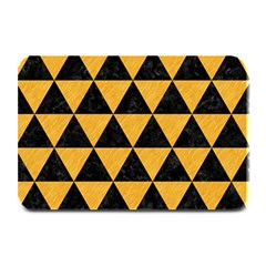 Triangle3 Black Marble & Orange Colored Pencil Plate Mats by trendistuff