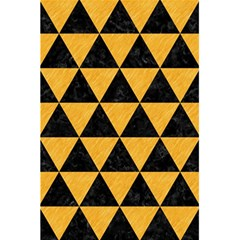 Triangle3 Black Marble & Orange Colored Pencil 5 5  X 8 5  Notebooks by trendistuff