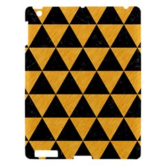 Triangle3 Black Marble & Orange Colored Pencil Apple Ipad 3/4 Hardshell Case by trendistuff
