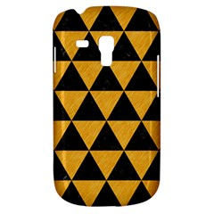 Triangle3 Black Marble & Orange Colored Pencil Galaxy S3 Mini by trendistuff