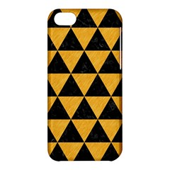 Triangle3 Black Marble & Orange Colored Pencil Apple Iphone 5c Hardshell Case by trendistuff