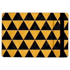 Triangle3 Black Marble & Orange Colored Pencil Ipad Air 2 Flip by trendistuff