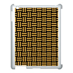 Woven1 Black Marble & Orange Colored Pencil Apple Ipad 3/4 Case (white) by trendistuff