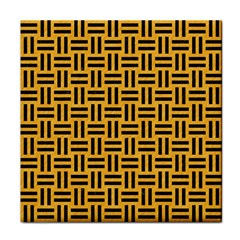 Woven1 Black Marble & Orange Colored Pencil (r) Tile Coasters by trendistuff