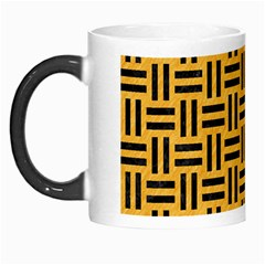 Woven1 Black Marble & Orange Colored Pencil (r) Morph Mugs by trendistuff