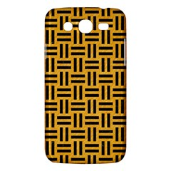 Woven1 Black Marble & Orange Colored Pencil (r) Samsung Galaxy Mega 5 8 I9152 Hardshell Case  by trendistuff