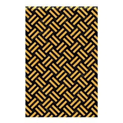 Woven2 Black Marble & Orange Colored Pencil Shower Curtain 48  X 72  (small)  by trendistuff
