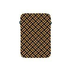 Woven2 Black Marble & Orange Colored Pencil Apple Ipad Mini Protective Soft Cases by trendistuff