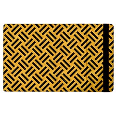 Woven2 Black Marble & Orange Colored Pencil (r) Apple Ipad 3/4 Flip Case by trendistuff