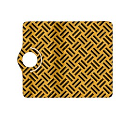 Woven2 Black Marble & Orange Colored Pencil (r) Kindle Fire Hdx 8 9  Flip 360 Case by trendistuff