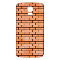 Brick1 Black Marble & Orange Watercolor Samsung Galaxy S5 Back Case (white) by trendistuff