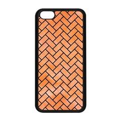 Brick2 Black Marble & Orange Watercolor Apple Iphone 5c Seamless Case (black) by trendistuff