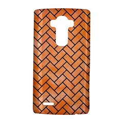 Brick2 Black Marble & Orange Watercolor Lg G4 Hardshell Case