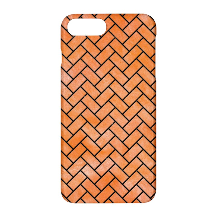 BRICK2 BLACK MARBLE & ORANGE WATERCOLOR Apple iPhone 7 Plus Hardshell Case