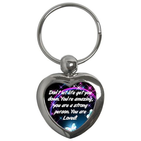 Better Yet Keychain By Shelleyww42 Gmail Com   Key Chain (heart)   V268xwmwlbyl   Www Artscow Com Front