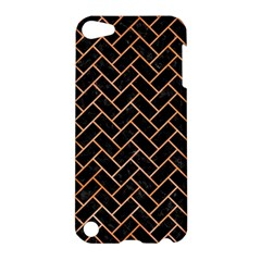 Brick2 Black Marble & Orange Watercolor (r) Apple Ipod Touch 5 Hardshell Case by trendistuff