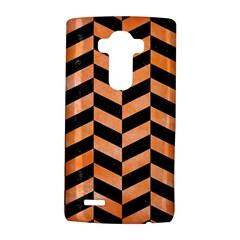 Chevron1 Black Marble & Orange Watercolor Lg G4 Hardshell Case by trendistuff