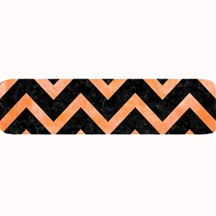 Chevron9 Black Marble & Orange Watercolor (r) Large Bar Mats by trendistuff