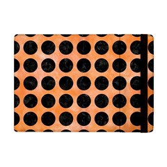 Circles1 Black Marble & Orange Watercolor Apple Ipad Mini Flip Case by trendistuff
