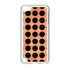 Circles1 Black Marble & Orange Watercolor Apple Ipod Touch 5 Case (white) by trendistuff