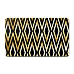 Gold,black,art Deco Pattern Magnet (rectangular) by 8fugoso