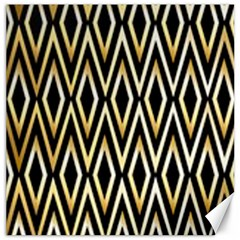Gold,black,art Deco Pattern Canvas 16  X 16   by 8fugoso