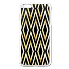 Gold,black,art Deco Pattern Apple Iphone 6 Plus/6s Plus Enamel White Case