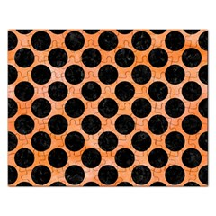 Circles2 Black Marble & Orange Watercolor Rectangular Jigsaw Puzzl by trendistuff