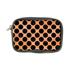 Circles2 Black Marble & Orange Watercolor Coin Purse by trendistuff