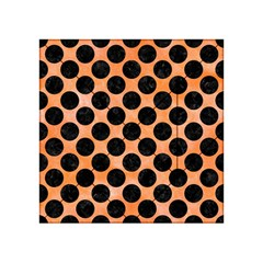 Circles2 Black Marble & Orange Watercolor Acrylic Tangram Puzzle (4  X 4 ) by trendistuff