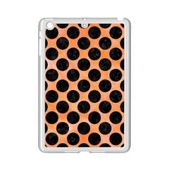 Circles2 Black Marble & Orange Watercolor Ipad Mini 2 Enamel Coated Cases by trendistuff