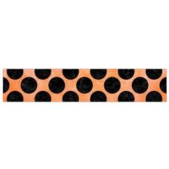 Circles2 Black Marble & Orange Watercolor Flano Scarf (small) by trendistuff
