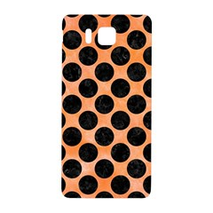 Circles2 Black Marble & Orange Watercolor Samsung Galaxy Alpha Hardshell Back Case by trendistuff