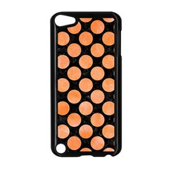 Circles2 Black Marble & Orange Watercolor (r) Apple Ipod Touch 5 Case (black) by trendistuff