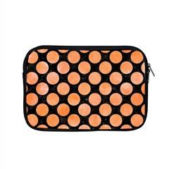 Circles2 Black Marble & Orange Watercolor (r) Apple Macbook Pro 15  Zipper Case by trendistuff