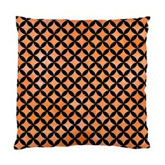 Circles3 Black Marble & Orange Watercolor Standard Cushion Case (two Sides) by trendistuff