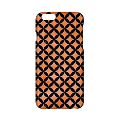 Circles3 Black Marble & Orange Watercolor Apple Iphone 6/6s Hardshell Case by trendistuff