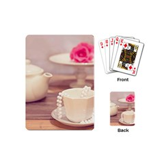 High Tea, Shabby Chic Playing Cards (mini)  by 8fugoso
