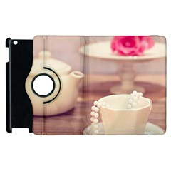High Tea, Shabby Chic Apple Ipad 3/4 Flip 360 Case by 8fugoso