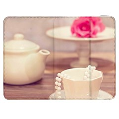 High Tea, Shabby Chic Samsung Galaxy Tab 7  P1000 Flip Case by 8fugoso