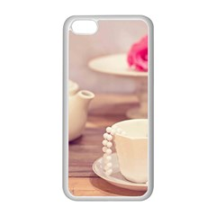 High Tea, Shabby Chic Apple Iphone 5c Seamless Case (white) by 8fugoso