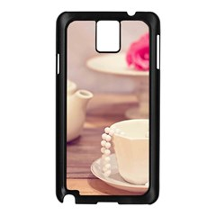 High Tea, Shabby Chic Samsung Galaxy Note 3 N9005 Case (black) by Love888