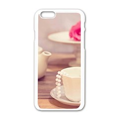 High Tea, Shabby Chic Apple Iphone 6/6s White Enamel Case by 8fugoso