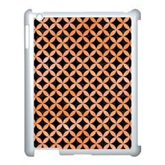Circles3 Black Marble & Orange Watercolor (r) Apple Ipad 3/4 Case (white) by trendistuff